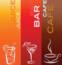 drinks and refreshments vector image