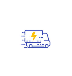 electric van delivery truck icon vector image