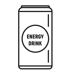 energy drink can icon outline style vector image