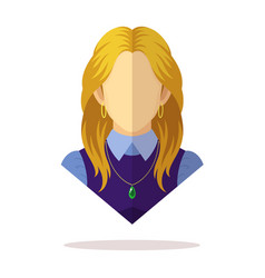 European women avatar vector