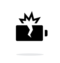 Explosion battery simple icon on white background vector