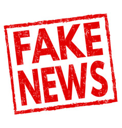 fake news sign or stamp vector image