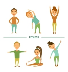 Fitness Cartoon characters vector image