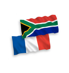 Flags france and republic south africa vector