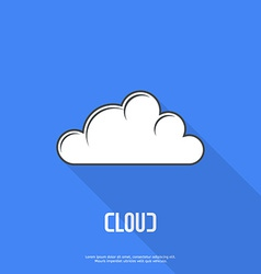 Flat cloud weather web icon vector