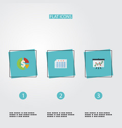 flat icons stock sheet tactics and other vector image