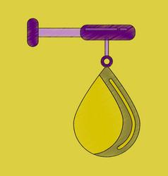 flat shading style icon punching bag vector image