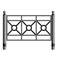 Garden fence icon cartoon style vector