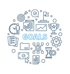 goals circular in outline vector image