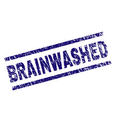 Grunge textured brainwashed stamp seal vector