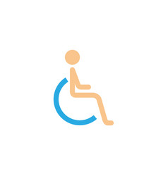handicapped and invalid solid icon vector image