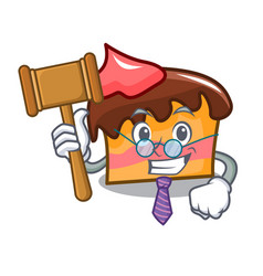 Judge sponge cake mascot cartoon vector