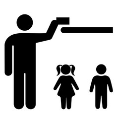 keep away from children vector image