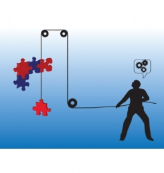 Lifting puzzle vector