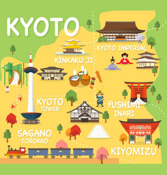 Map of kyoto vector