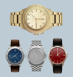 Men watches luxury style expensive bracelets with vector