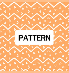 modern white zigzag pattern orange background vect vector image