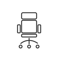 office chair line icon on a white background vector image