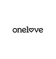 onelove logo design concept vector image