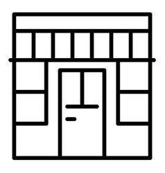 Outside store icon outline style vector