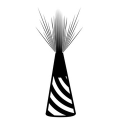 party hat silhouete vector image