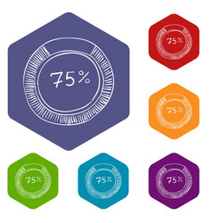 Percent showing infographics hand drawn style vector