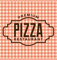 Premium pizza restaurant logo vector