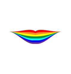 rainbow lips sign 704 vector image