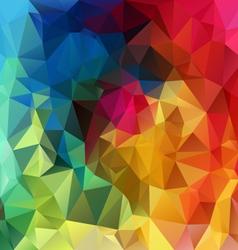 rainbow spectrum polygonal triangular pattern vector image