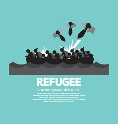 Refugee Graphic Symbol vector