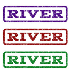 River watermark stamp vector