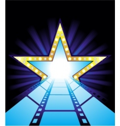 road to Hollywood vector image