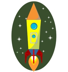Rocket Space Ship On Background vector image