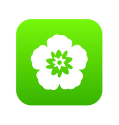 rose of sharon korean flower icon digital green vector image