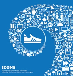 Running shoe icon sign Nice set of beautiful icons vector image