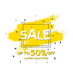 sale up to 50 limited quantities square frame yel vector image