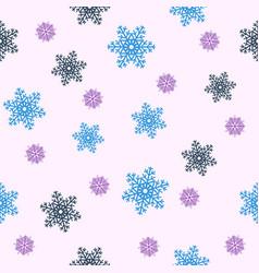seamless christmas backgroundblue snowflakes vector image