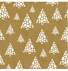 seamless repeat pattern abstract christmas trees vector image