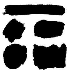 set brush strokescollection brush vector image