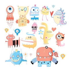 Set of funny monsters vector