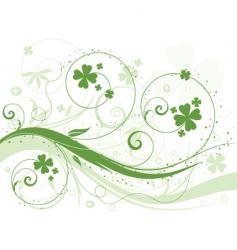 Shamrock background vector