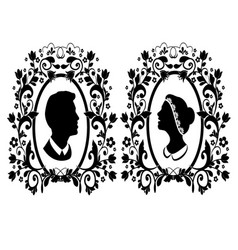 silhouette wedding vector image
