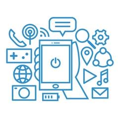 Smartphone icon set vector