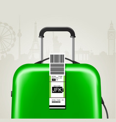 Sticky baggage label with jfk new york airport vector