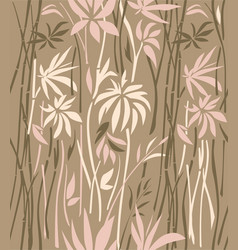 Texture of bamboo thickets on a brown background vector