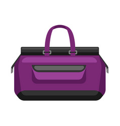 travel textile bag vector image