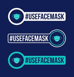 use face mask prevention covid-19 icon sticker vector image