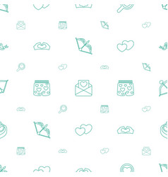 Valentine icons pattern seamless white background vector