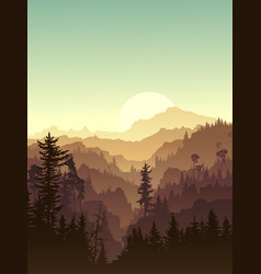 vertical twilight in forest hills vector image