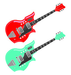 vintage national electric guitar vector image